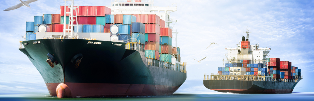 Container Ships carrying nuts and commodities